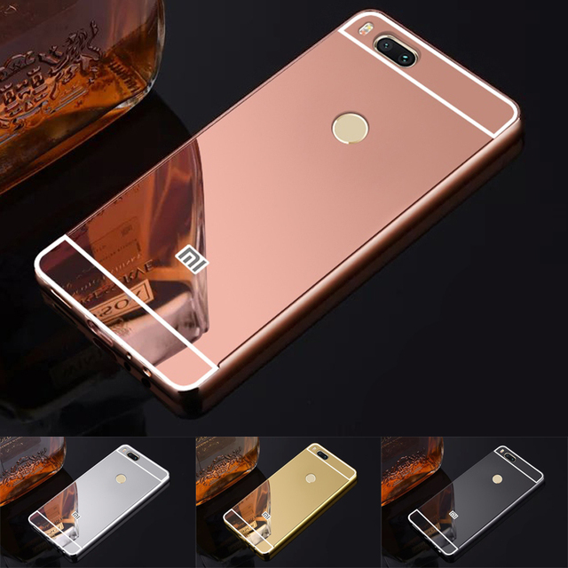big sale 8f623 b6a4e US $3.99 |Fashion Luxury Rose Gold Mirror Case For Xiaomi Mi5x A1 shell  Back Cover For MI 5X Pro A 1 For xiaomi mi a1-in Fitted Cases from  Cellphones ...