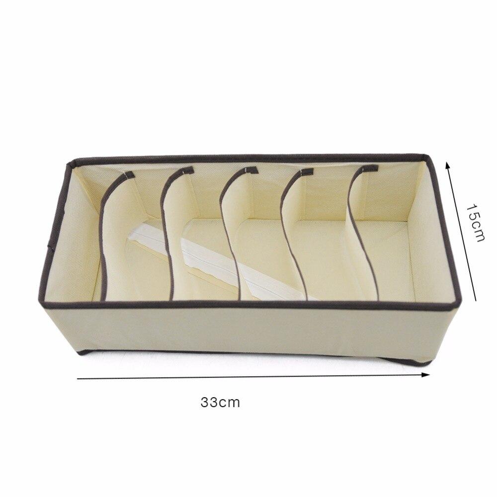 Image 4 - Multi size Underwear Bra Organizer Storage Box Drawer Closet Organizers Boxes For Underwear Scarf Socks Bra Home Storage-in Drawer Organizers from Home & Garden