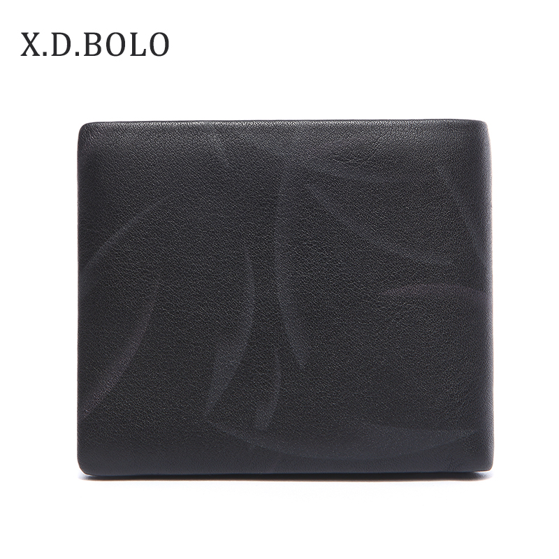 X.D.BOLO Purse Card-Holder Leather Wallet Genuine-Leather Men with Male Top-Quality