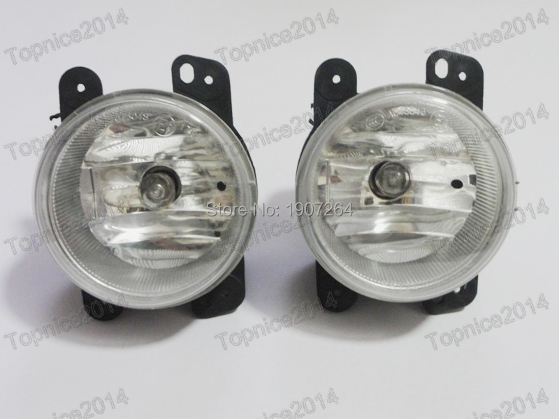 2Pcs Front Bumper Fog Light Fog Lamps With Bulbs Pair For Jeep Compass 2007-2010 2pcs pair front lower bumper fog light fog lamps left
