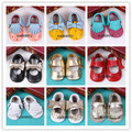 2016 summer new designs baby girls Mary Jane shoes side bow Genuine Leather shoes First Walkers Toddler newborn baby moccasins