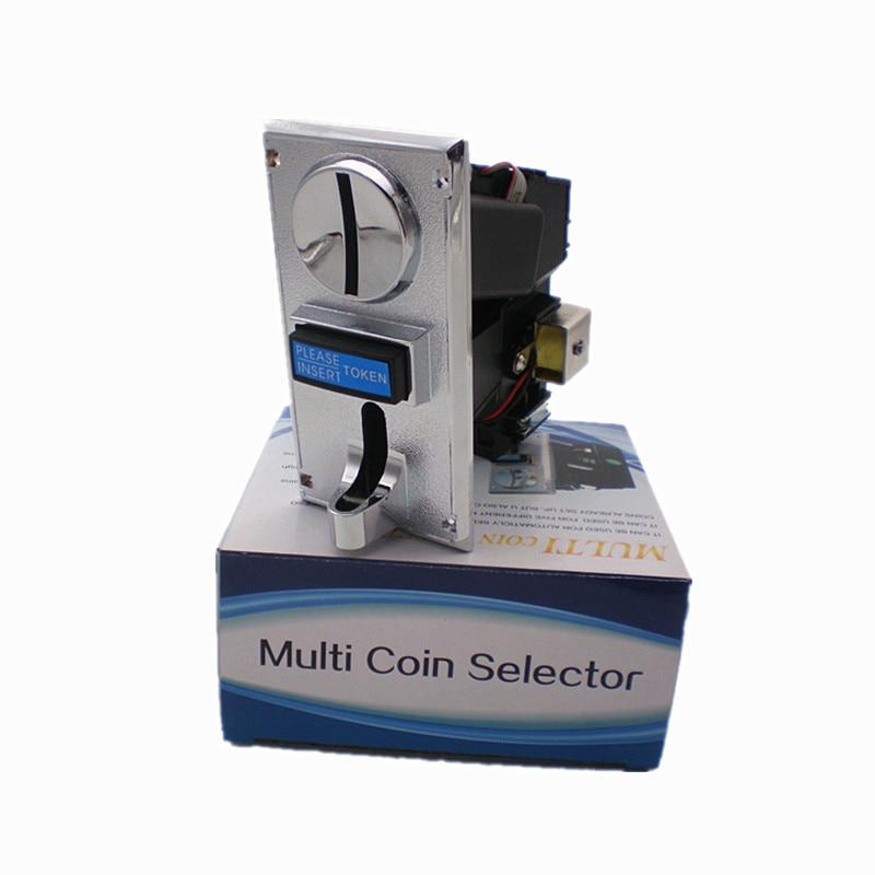 3 vnt. Lydinio / plastikinės plokštės daugialypės monetos selektorius 6 skirtingoms vertėms