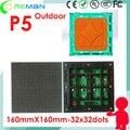 Freeshipping LED открытый p5 модуль цена 32*32 160*160 мм 1/8 сканирования, p5 светодиодный модуль rgb наружной рекламы светодиодная вывеска 3 г