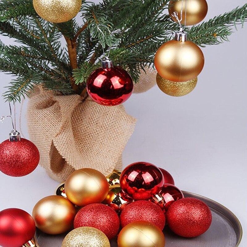 24pcs8cm decor ball Christmas ball hanging decorative ball Christmas decoration tree balls christmas ball