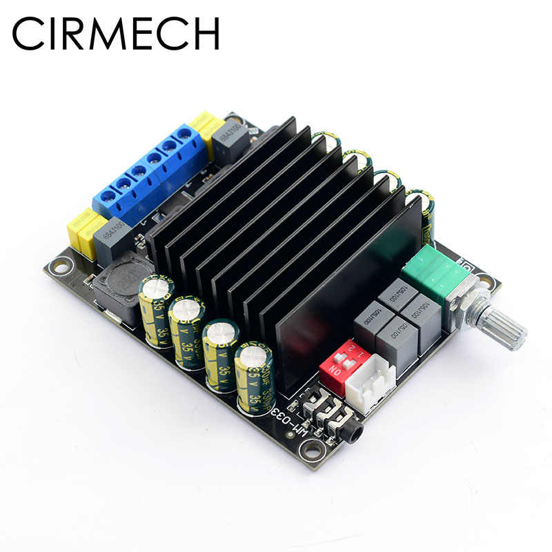 Cirmech Digital Amplifier Audio Papan TDA7498 Power Audio Amp 2.0 Kelas D Amplifier Stereo Hi Fi Penguat DC12-36V 2*100 W