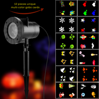 LED Projector Snowflake Light with 12 Gobo Stage DJ Lamp for Christmas Birthday New Year Halloween Thanksgiving Party Decoration