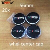 20 stks 56mm Auto Velg Emblemen Cover Voor VRS Octavia Fabia Superb YETI Auto Wheel hub Logo Caps