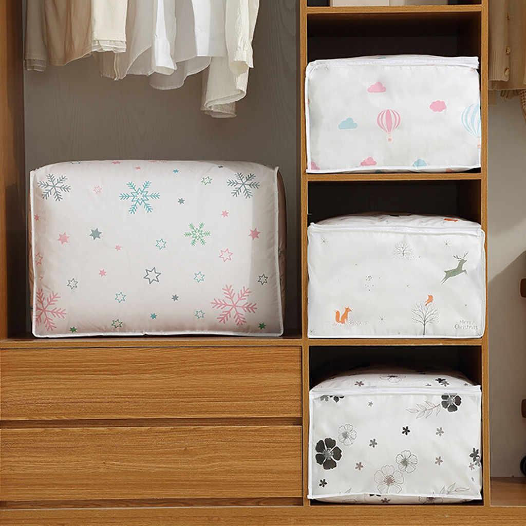 Складной, стеганый сумка для хранения одежды Одеяло Стёганое одеяло гардероб свитер организатор сумки коробку для хранения домашней одежды сумки D6