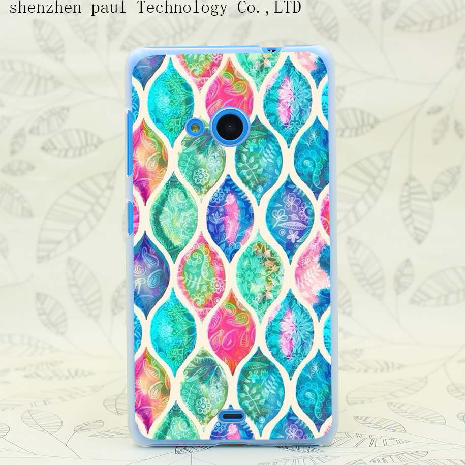 1758W font b Tartan b font Hard Transparent Case Cover for Microsoft Nokia Lumia 535 630