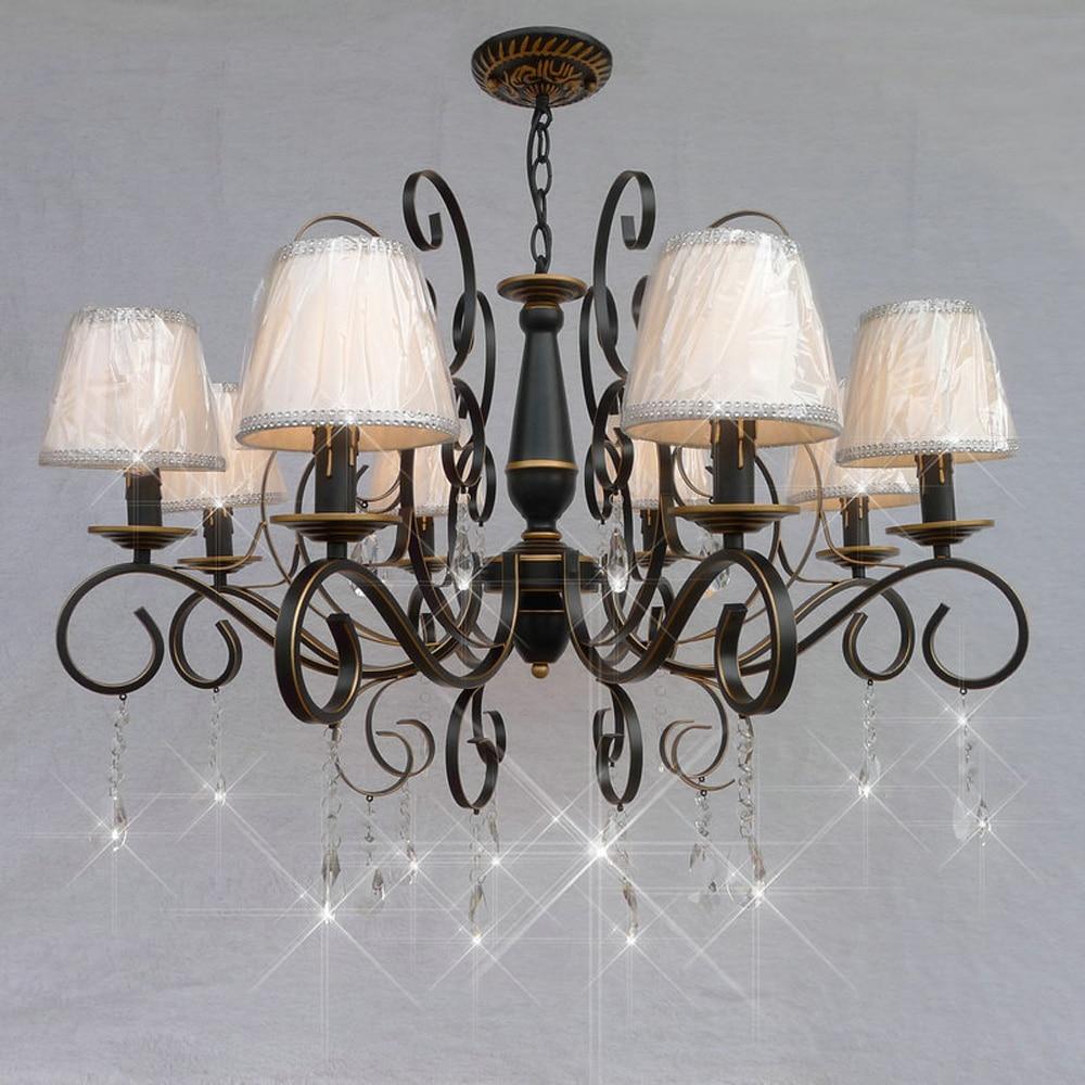 loft style suspension vintage crystal chandelier 110v 220v. Black Bedroom Furniture Sets. Home Design Ideas
