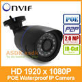 POE 1920 x 1080P 2MP Waterproof Bullet IP Camera 24LED Outdoor CCTV Camera ONVIF Night Vision P2P IP Security Cam with IR-Cut