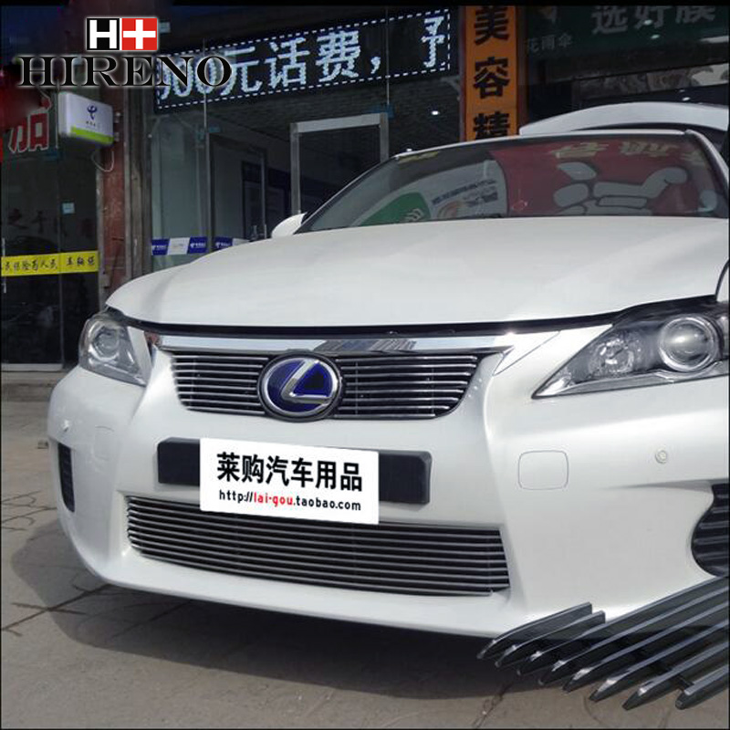 Stainless Steel Car Racing Grills For Lexus CT200H 2012-2014 Front Grill Grille Cover Trim Car styling