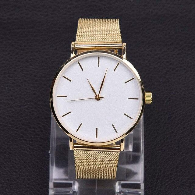 New Women Watches Dropshipping Stainless Steel Analog Quartz Wrist Watch Bracele