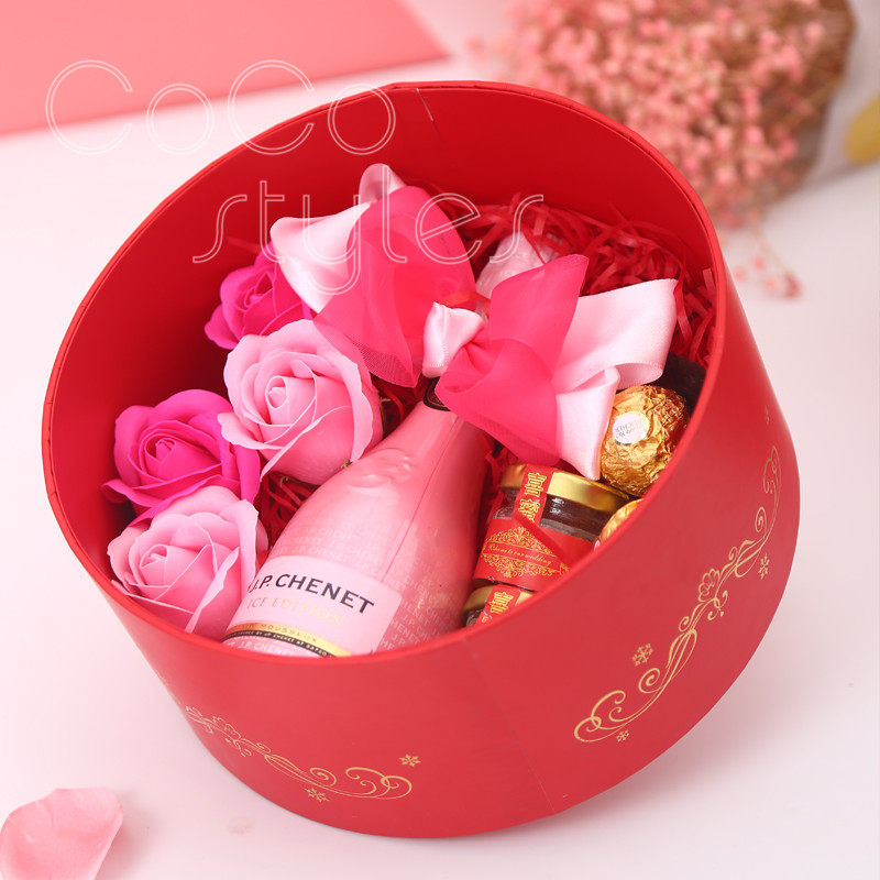 Cocostyles custom populal premium chinesestyle gift box with champagne chocolate honey for babyshower wedding present for guests - 3