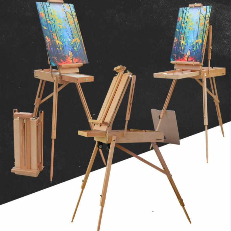 мольберт Caballete краски складной художественный деревянный