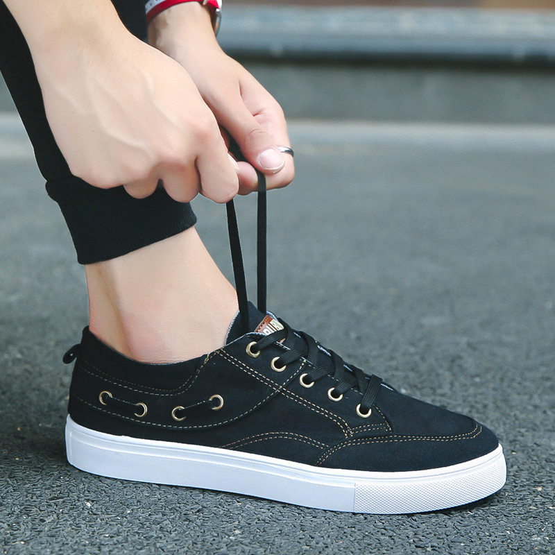 Aleafalling Men's Causal Shoes Breathable Message Outdoor Sneakers Soft Canvas Flat Shoes Relax Breathable For Female's ACA09