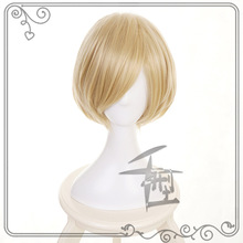 Anime YURI on ICE Yuri Plisetsky Yurio Short wig Light Blonde Gold Cosplay Wig + Cap Costume