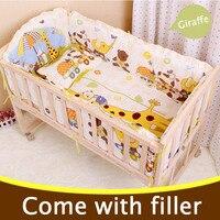 5PCS Set Infant Baby Crib Bedding Set Bumper For Boy Girl Baby Nursery Bedding Sets Cartoon