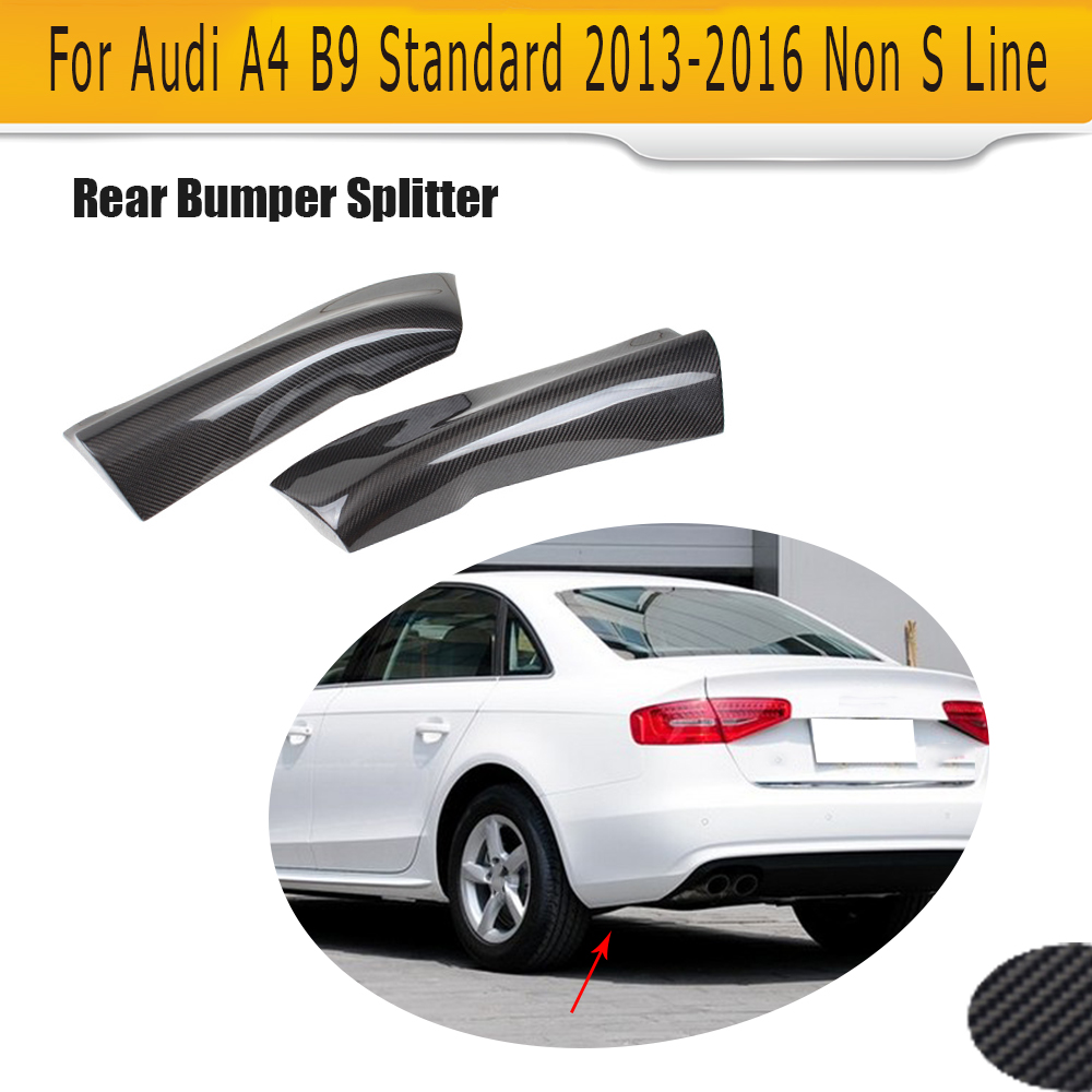 carbon Fiber rear bumper lip splitters flaps apron cupwings For Audi A4 B9 Standard Sedan 13-16 Non Sline картридж easyprint ih 053 932xl для hp officejet 6100 6600 6700 7110 7610 black