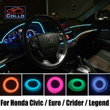 Гибкий Неон Холодный Свет/9 М EL Провод Для Honda Civic Si/евро/Type R/Crider/Легенда/Консоль Автомобиля Декоративные газа