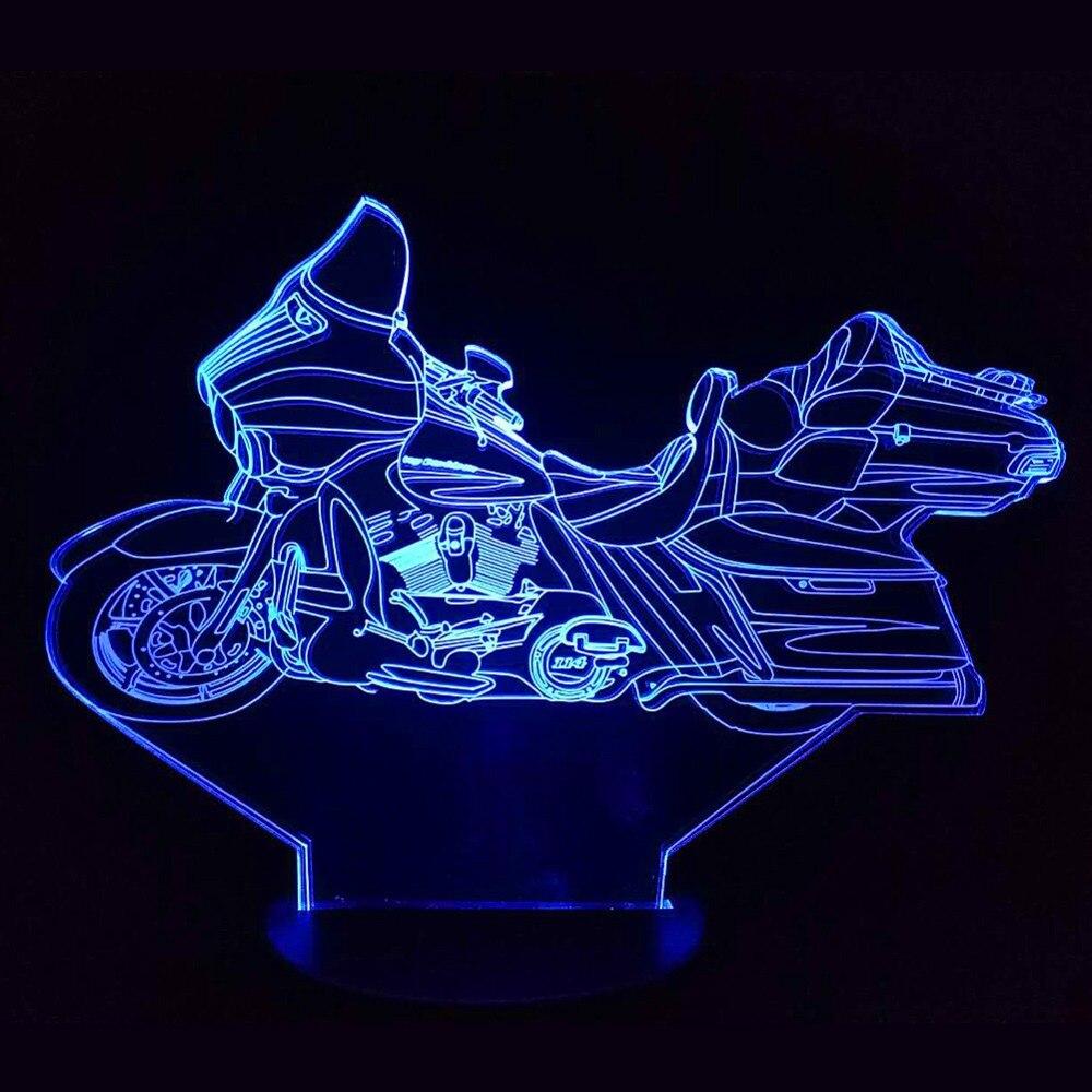 Moto 3D LED veilleuse USB lampe de Table tactile multicolore RGB ampoule noël cadeau décoratif dessin animé jouets Luminaria