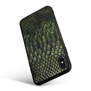 Image 3 - XOOMZ Para iPhone XS Max Caso Python Cobra PU LEATHER TPU Silicone Fino Proteção Integral XS XS MAX XR X Caso Tampa Traseira Para o iphone