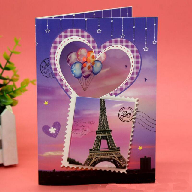 12pcs Lot Flash Music Birthday Card Bronzing Cartoon Three Dimensional Happy Greeting Cards Kids Gift