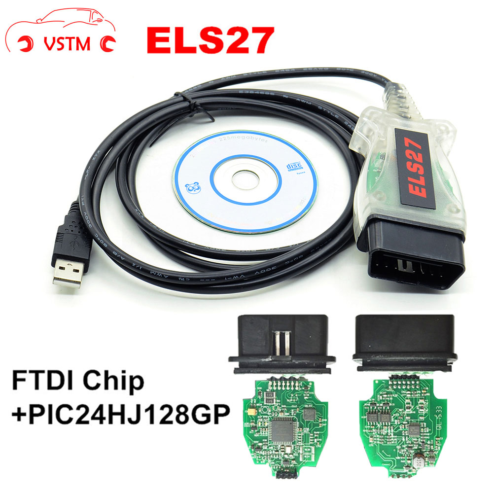 VSTM Auto USB Cable ELS27 FORScan Scanner OBD2 Code Reader Diagnostic Cable For F-ord/M-azda/Lin-co-ln/Mer-cury ELS27+FTDI Chip