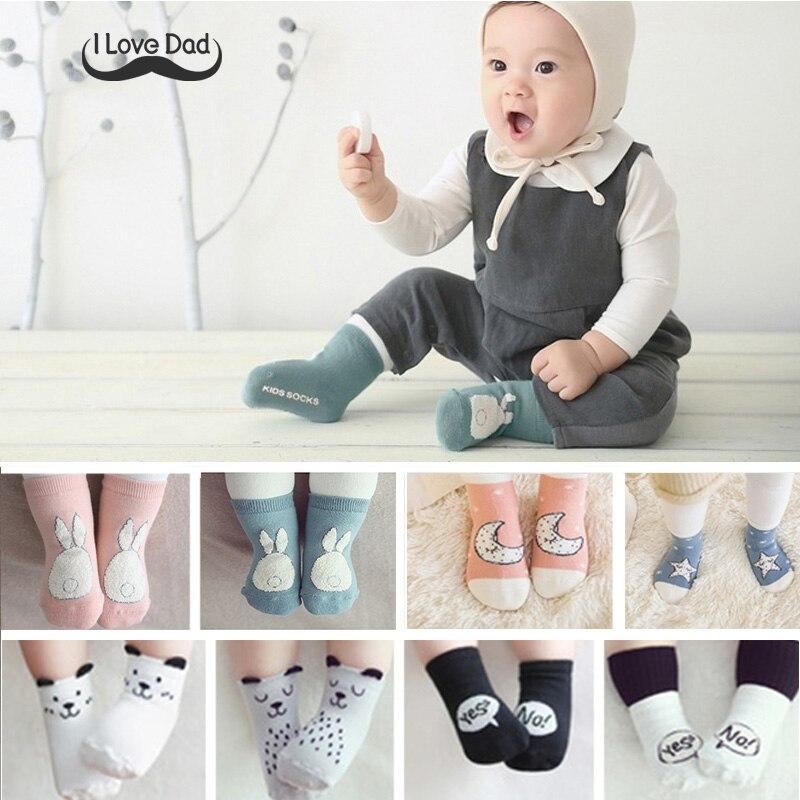 2017 winter autumn baby cartoon cotton socks newborn baby
