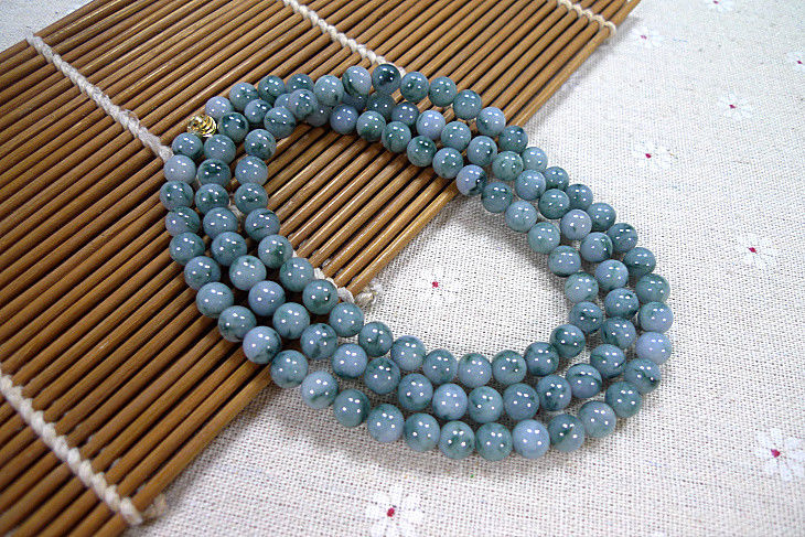 Natural A Genuine Lavender Purple yu Bead Beads  Necklace/Natural A Genuine Lavender Purple yu Bead Beads  Necklace/