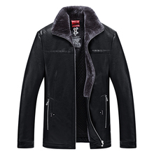 Free shipping men casual jacket collar windbreaker qiu dong, plus size plus velvet with thick cotton-padded clothes leather coat