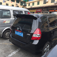 For Honda Jazz Fit Spoiler High Quality ABS Material Car Rear Wing Primer Color Rear Spoiler For Honda Fit B Spoiler 2008 2013