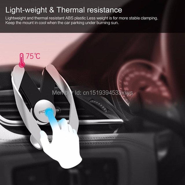 Rock Autobot Mobile Phone Car Air Vent Holder Universal Mount Stand Universal Car-styling Flexible Grip Accessories for iphone 7