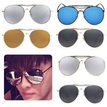 Men female brand Metal Mirror Lenses Sun Glasses For women Male retro de sol Steampunk Round Sunglasses Women steam punk circl