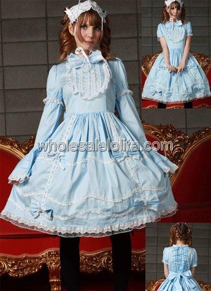 Light Blue and White Sweet Lolita Dress Gothic Dress Lolita Ball Gown