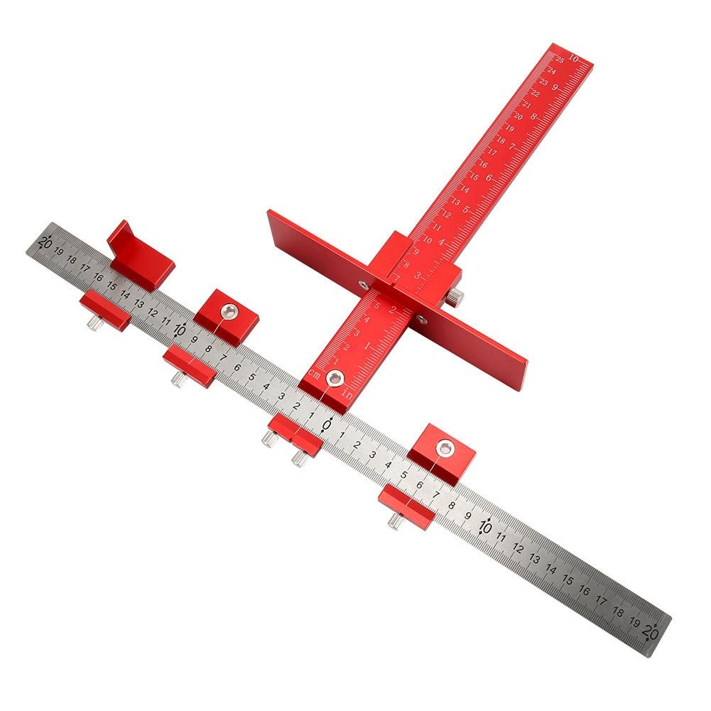 Ensemble d'outils de gabarit de perforation détachable perceuse Guide manchon armoire tiroir outils de forage de bois matériel-M25