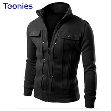2016 Hoodies Men Sports Sweatshirts Brand Tracksuit Moleton Masculina Zipper Fashion Fake Pocket Design Men's Sudaderas Hombre