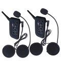 2x V6 Fones De Ouvido BT Vários Interfone Bluetooth Capacete Da Motocicleta Interfone 1200 M fone de Ouvido do Capacete 6 Pilotos Navio Da Espanha