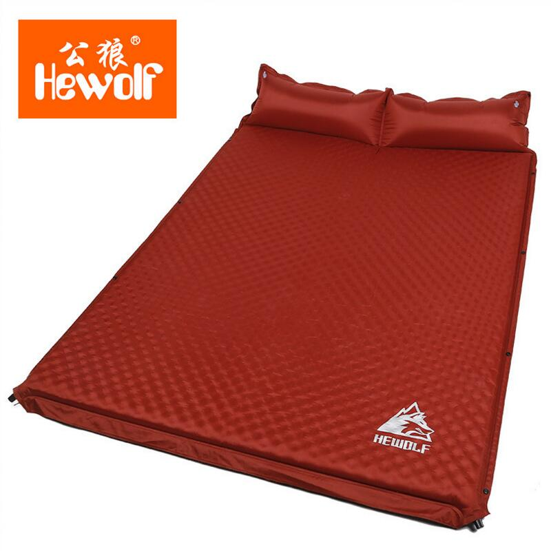 Hewolf Camping Tent Sleeping Mat Automatically Inflatable Cushion Pad Single Air Mattress Damp-proof Double Mattress Camping Pad rockies single183cm x 55cm r3 8 thermal resistance watetproof cushion sleeping mattress pad air bed