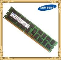 سامسونج ddr3 8 جيجابايت 16 جيجابايت ذاكرة الخادم 1333 ميجا هرتز ddr3 ecc ريج تسجيل PC3-10600R dimm ram 240pin 10600 8 جرام X79 x58 motherboard استخدام
