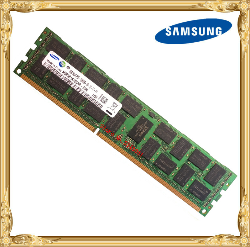 Samsung DDR3 8 GB 16 GB serveur mémoire 1333 MHz ECC REG DDR3 PC3-10600R Registre RAM DIMM 240pin 10600 8G X58 X79 carte mère utiliser