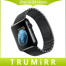 22 мм 24 мм Браслет Из Нержавеющей Стали Ссылка для iWatch Apple Watch 38 мм 42 мм Смотреть Band Ремешок С Бабочкой Пряжки 1:1 как оригинал