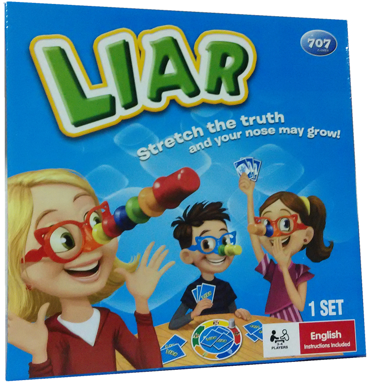 toy game Liar Fibber Game Hilarious Noses Glasses Stretch The Truth Your Nose May Grow Kids Children Great Family party game