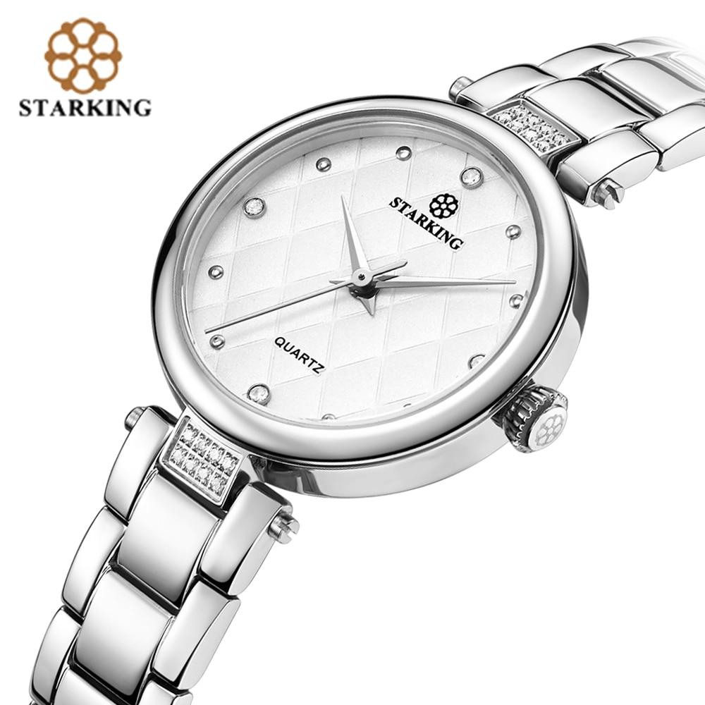 STARKING Elegant Ladies Armbandsur Diamantring Stilig Rhinestone - Damklockor - Foto 3