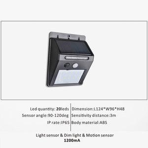 Image 3 - אלחוטי שמש מופעל 35 LED שמש אור עמיד למים IP65 PIR חיישן תנועה חיצוני גדר גן אור נתיב שמש מנורת קיר