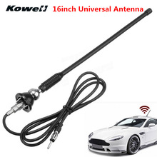 цена на 16inch Universal Car Auto Roof Radio Antenna FM/AM Signal Booster Amplifier Aerials Whip Mast for Lada for Volkswagen VW for KIA