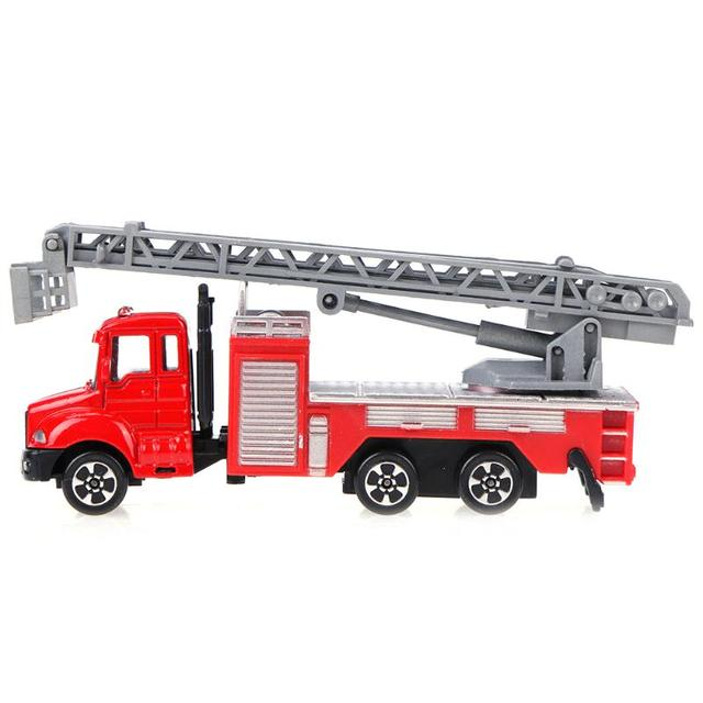 Toddler Model Car Truck Toy 1 64 Scales Alloy Mini Fire Truck