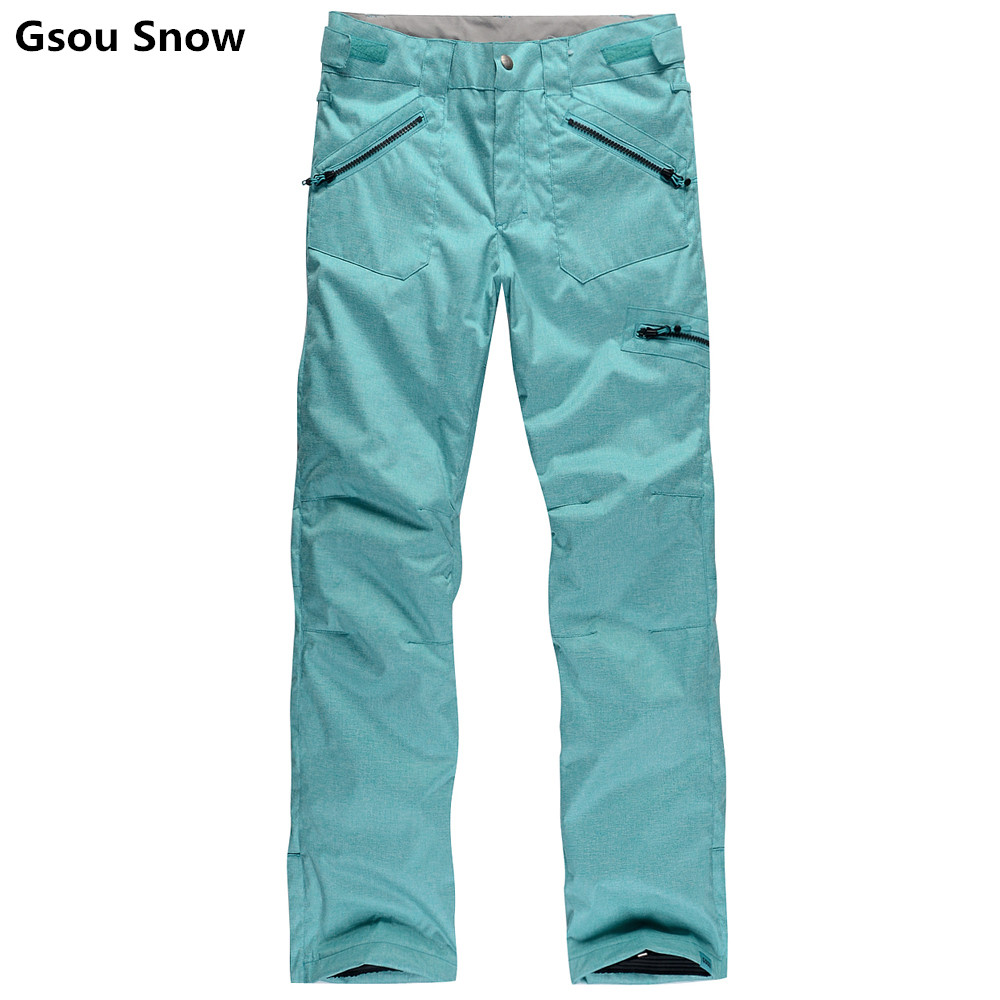 Gsou Snow brand  ski wear snowboard pants female snow pants women waterproof snowboarding pants pantalones esqui nieve ski go мазь держания ski go lf