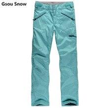 Gsou snow brand ropa de esquí snowboard pantalones pantalones para la nieve de las mujeres impermeables pantalones de snowboard pantalones esqui nieve femenina