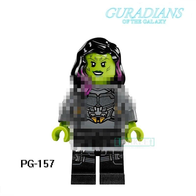 Guardians of the Galaxy Building Blocks PG157 Gamora Building Block Action Figure DIY Custom Made Children Gift Toys PG8044